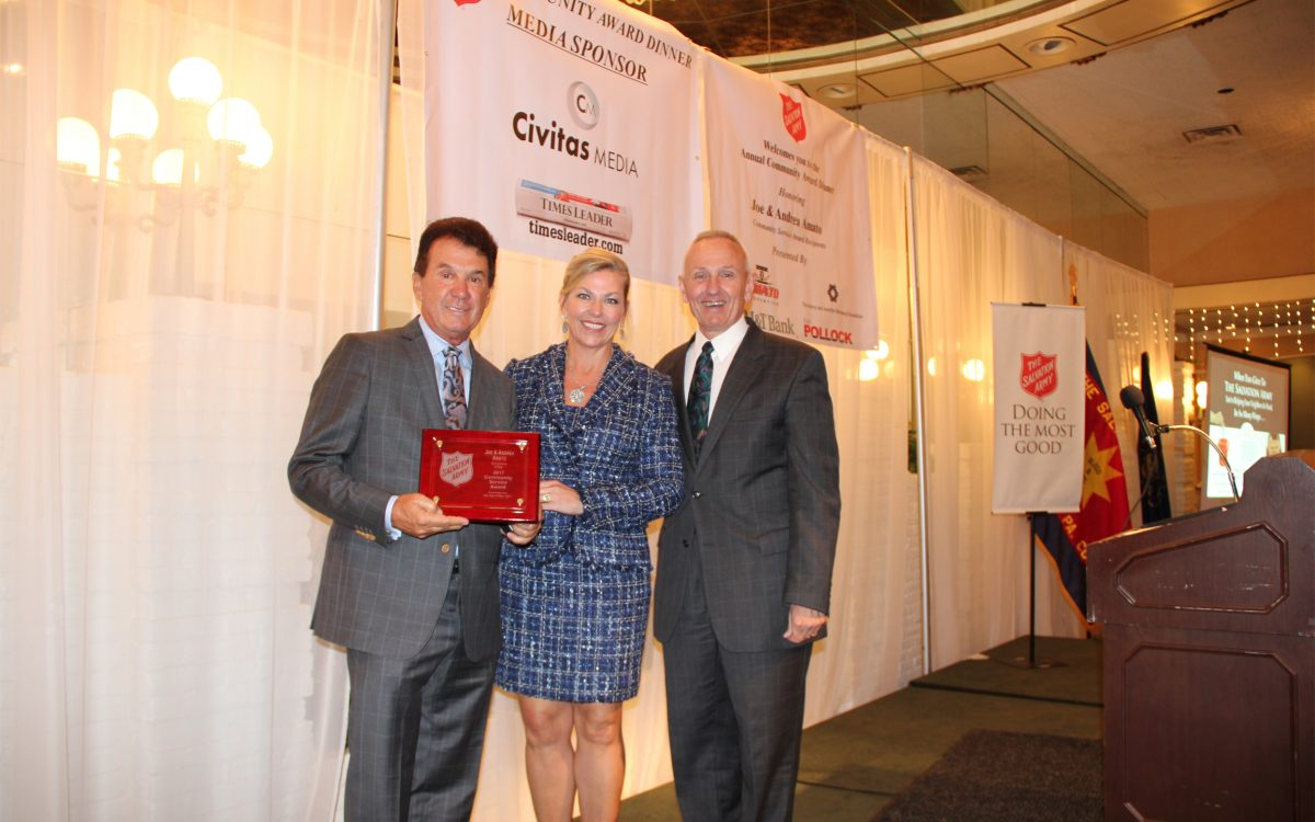 The Salvation Army of Wilkes-Barre Honors NEPA Business Owners & Philanthropists Joe & Andrea Amato