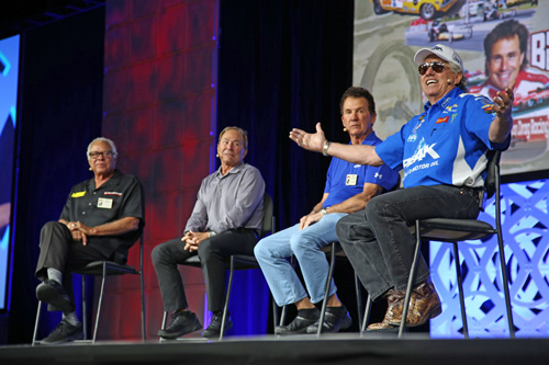 "The 2018 NHRA Breakfast in the Westgate Paradise Events Center showcased celebrity drivers who have been on the road to ""Fifty Years of the NHRA Gatornationals."" The event featured drag racing legends Kenny Bernstein, Joe Amato, Don ""The Snake"" Prudhomme as well as current NHRA driver John Force. FOX broadcast announcer Brian Lohnes served as the panel moderator, asking probing questions to provide attendees with a revealing glimpse into some of the best-kept stories of the historic Gatornationals. ""To have John Force, Kenny Bernstein, Joe Amato and Don ""The Snake"" Prudhomme all on one stage is a very rare occurrence,"" Lohnes stated. Joe gained a reputation throughout the NHRA as the ""winningest driver in drag racing history,"" an achievement that resulted from tenacity and determination. The 1984 Gatornationals was a pivotal weekend: Joe became the first Top Fuel driver to break the 260-mph mark, and his 262.39-mph win kicked off a streak that resulted in his first championship season. He also became the first NHRA driver to break through the 280-mph mark three years later. The 1984 championship became the first of five he would win before retiring after the 2000 season. Joe is one of the NHRA's Top 50 Drivers. Watch the video played at the event as a tribute to Joe and his legendary career"